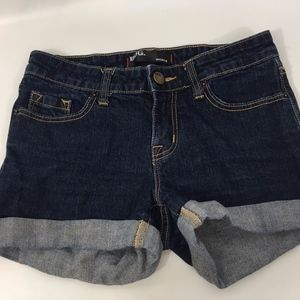 BDG Urban Outfitters Dark Wash Denim Cuffed Shorts